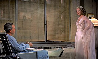 Rear Window - James Stewart and Grace Kelly in Rear Window