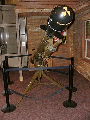 Davy Crockett (nuclear device) - A Davy Crockett casing preserved in the United States Army Ordnance Museum