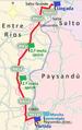 Recorrido de la segunda etapa del Giro por la Hermandad 2014.png
