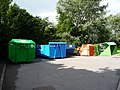 Recycling facilities near public car park, Porlock - geograph.org.uk - 1710802.jpg