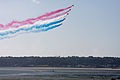 Red Arrows over St Aubins Bay.JPG