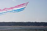 Red Arrows over St Aubins Bay.JPG