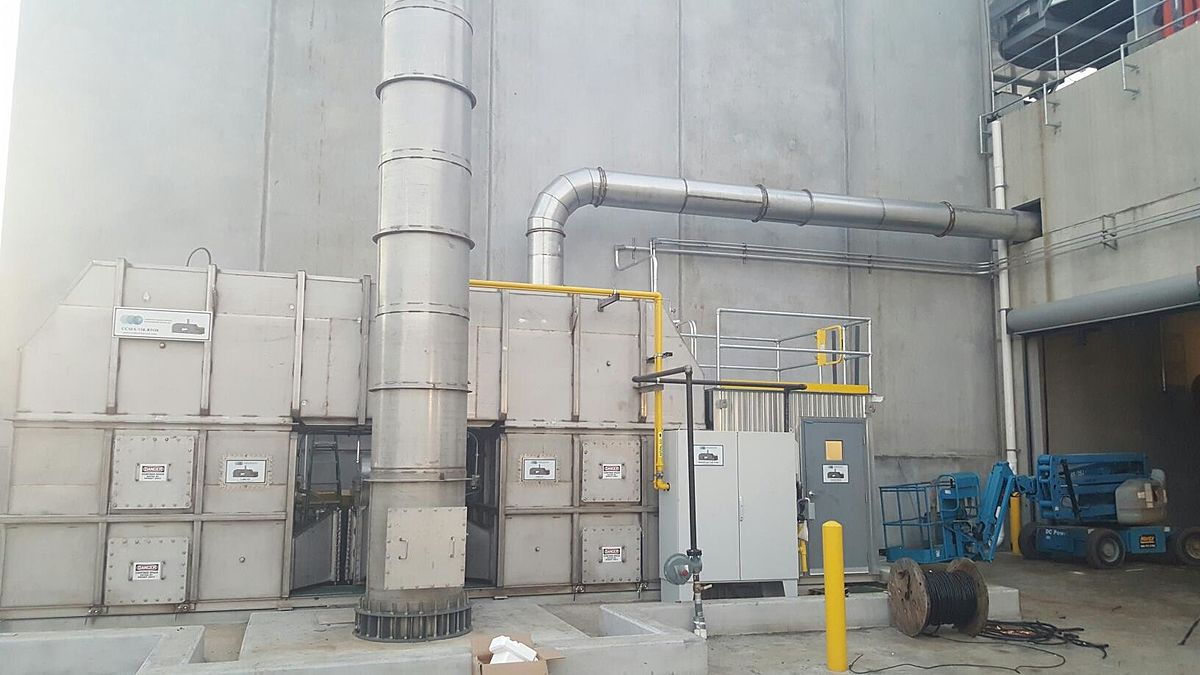 Px Regenerative Thermal Oxidizer on Refrigeration Fan Motor