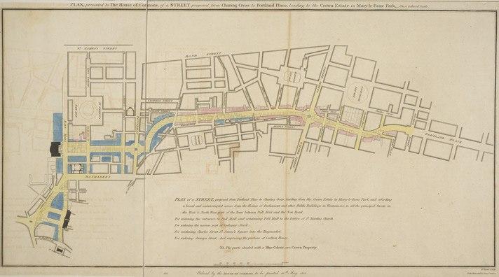 Regent St proposal published 1813