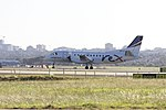 Regional Express Airlines (VH-ZLV) Saab 340B waiting at Golf 4 holding point at Sydney Airport.jpg