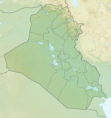 Carte en relief: Irak