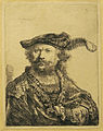 Rembrandt Self-portrait in a cap with plume01.jpg