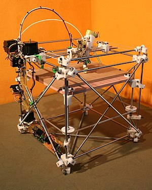 "Self-replicating machine - RepRap 1.0 ""Darwin"" prototype"