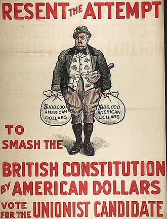 Irish Unionist Alliance - A Unionist anti-John Redmond poster from the 1910 election