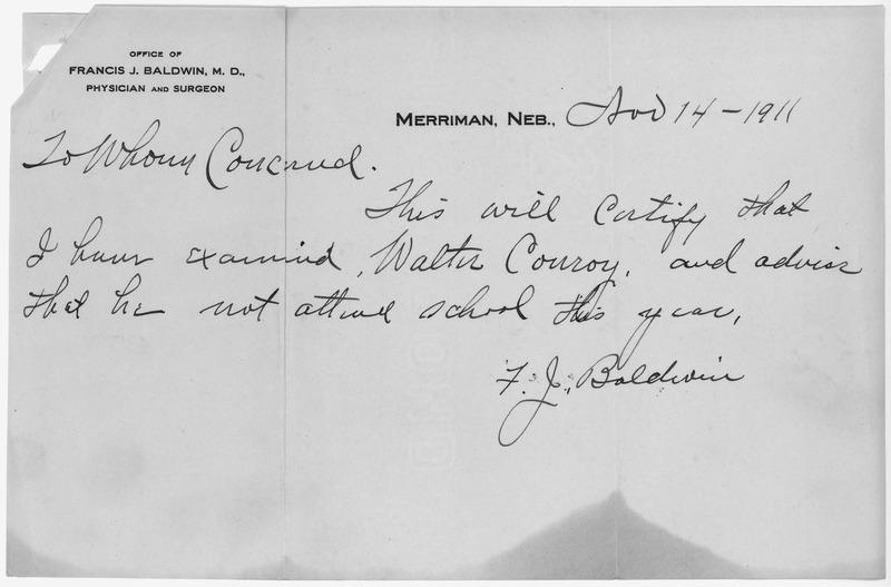 File:Results of Dr. Francis J. Baldwin's Medical Examination of Walter Conroy. - NARA - 284253.tif