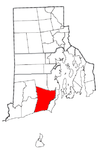 Rhode Island Municipalities South Kingstown Highlighted.png
