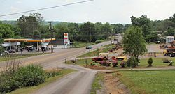 Skyline of Riceville, Tennessee