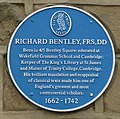 Richard Bentley blue plaque Bentley Square Oulton.jpg