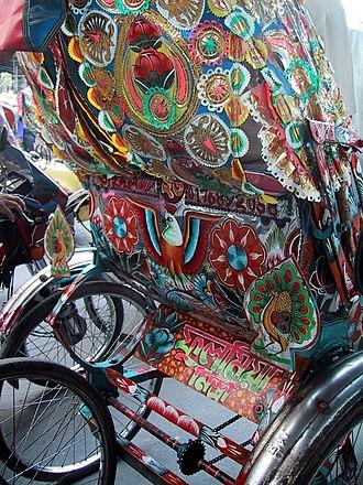 Rickshaw art - Image: Ricksha art