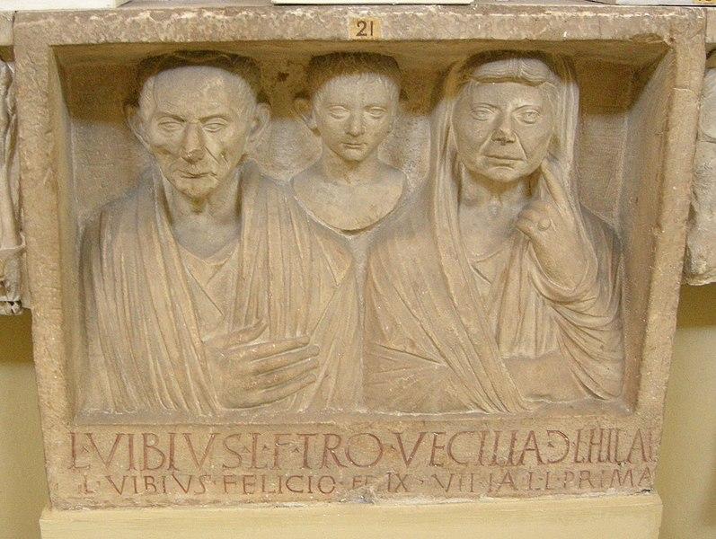 File:Rilievo funerario dei vibii, fine del I secolo ac..JPG