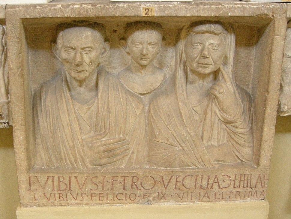 Rilievo funerario dei vibii, fine del I secolo ac.