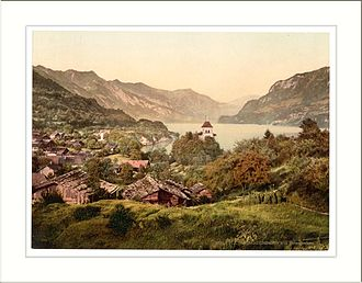 Ringgenberg - Photochrom postcard from 1890 to 1900 of Ringgenberg