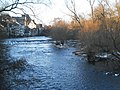 River Lahn in Marburg in winter, view from Hirsefeldsteg upstream (to bridge Weidenhäuser Brücke) 2018-02-27.jpg