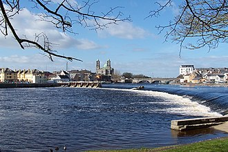 County Roscommon - The River Shannon running through Athlone town.