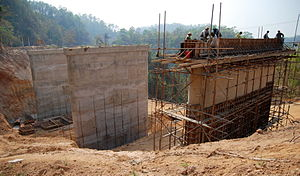 Thai highway network - Bridge construction on route 108