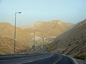 Road towards Qantab, Muscat