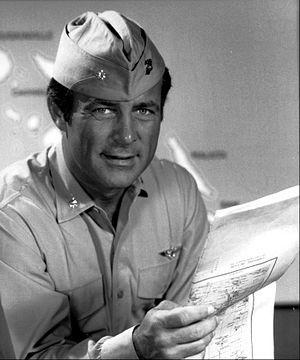 "Baa Baa Black Sheep (TV series) - Robert Conrad as Major Gregory ""Pappy"" Boyington in 1976"