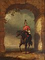 Robert Ker Porter (1777-1842) - An Officer of the Dragoon Guards Mounted on His Charger beneath an Arch - 515547 - National Trust.jpg