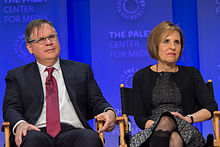 Robert King and Michelle King at 2015 PaleyFest.jpg