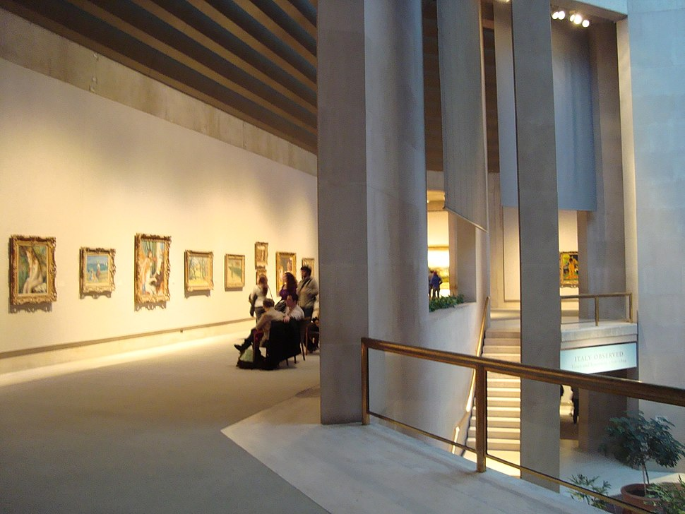 Robert Lehman Wing - Visitors Watching Impressionist Masters