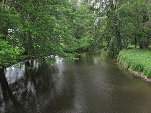 Rocky River (Michigan) - The Rocky River in Flowerfield Township