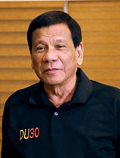 Rodrigo Duterte Filipino politician and the 16th President of the Philippines