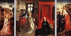 Rogier van der Weyden: Annunciation Triptych