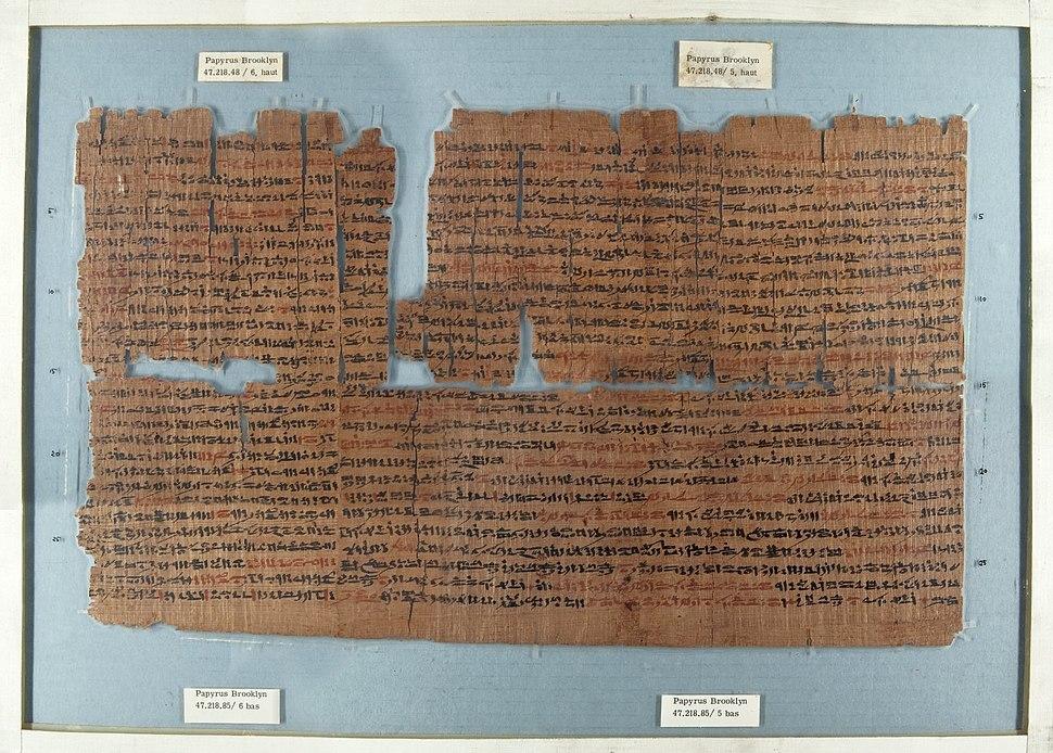 Roll, 664 - 332 B.C.E. Brooklyn Papyrus 47.218.48a-f
