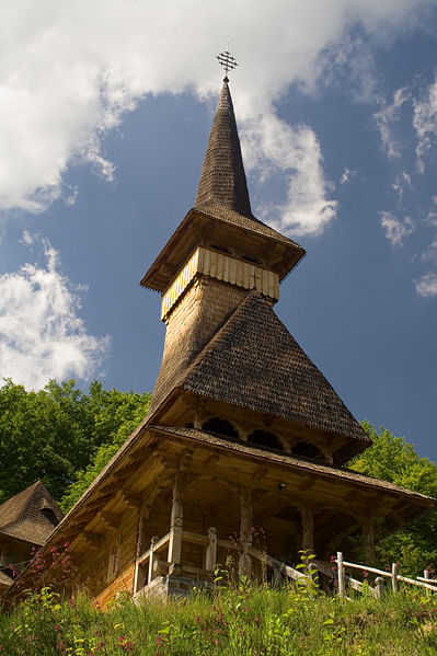 File:Romania Rohia Monastery Wooden Church.jpg