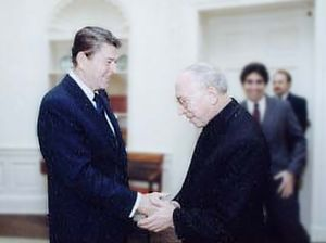 Agostino Casaroli - Casaroli meeting with Ronald Reagan as Vatican Secretary of State in 1981