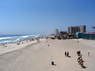 Rosarito Beach City in Baja California, Mexico