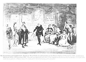 Rosencrantz and Guildenstern (play) - 1891 illustration from an early production with the original cast