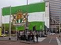 Rotterdam, Feyenoord megadoek voor Shell gebouw IMG 6441 2017-05-07 13.19.jpg