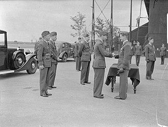 Alan Christopher Deere - Deere being presented with his DFC by King George VI, 27 June 1940