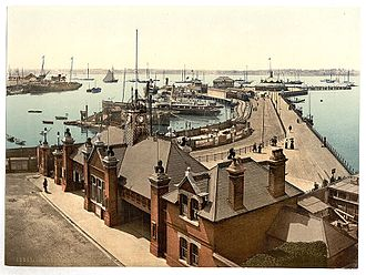 Royal Pier, Southampton - The pier sometime between 1891 and 1900