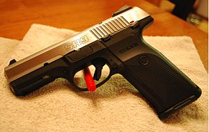 Ruger SR-Series - Ruger SR9 with brushed stainless steel slide