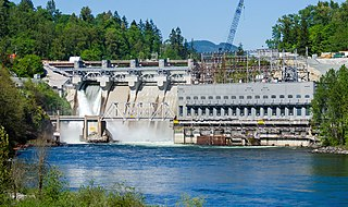 Ruskin Dam and Powerhouse Dam in Ruskin, British Columbia