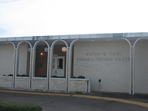Ruthe B. Cowl - The Ruthe B. Cowl Rehabilitation Center at the intersection of Malinche Avenue and Laredo Street in Laredo, Texas