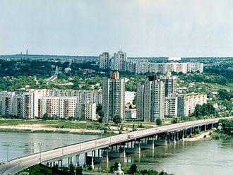 Rîbnița - Rîbnița as seen from across the Dniester river