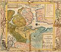 Søndre Bergenhus amt nr 3- Carta over Districtet een Miil omkring Bergen afdeelt i sine Sogne, 1772.jpg