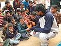 SAP School Kids With NIRMAAN Volunteer, NIRMAAN Pilani.jpg