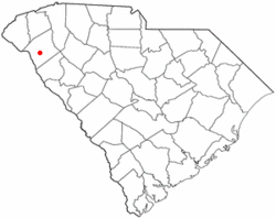 Location of Homeland Park, South Carolina