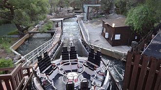 Roaring Rapids - Roaring Rapids at Six Flags Magic Mountain. Many guests claim it is the best water ride at the park.
