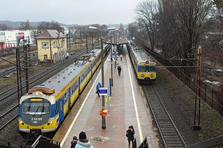 railway station in Gdańsk, Poland