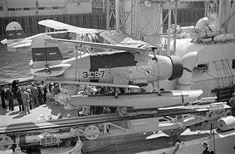 USS Cincinnati (CL-6) - SOC Seagull floatplanes on USS Cincinnati at Vancouver 1937.